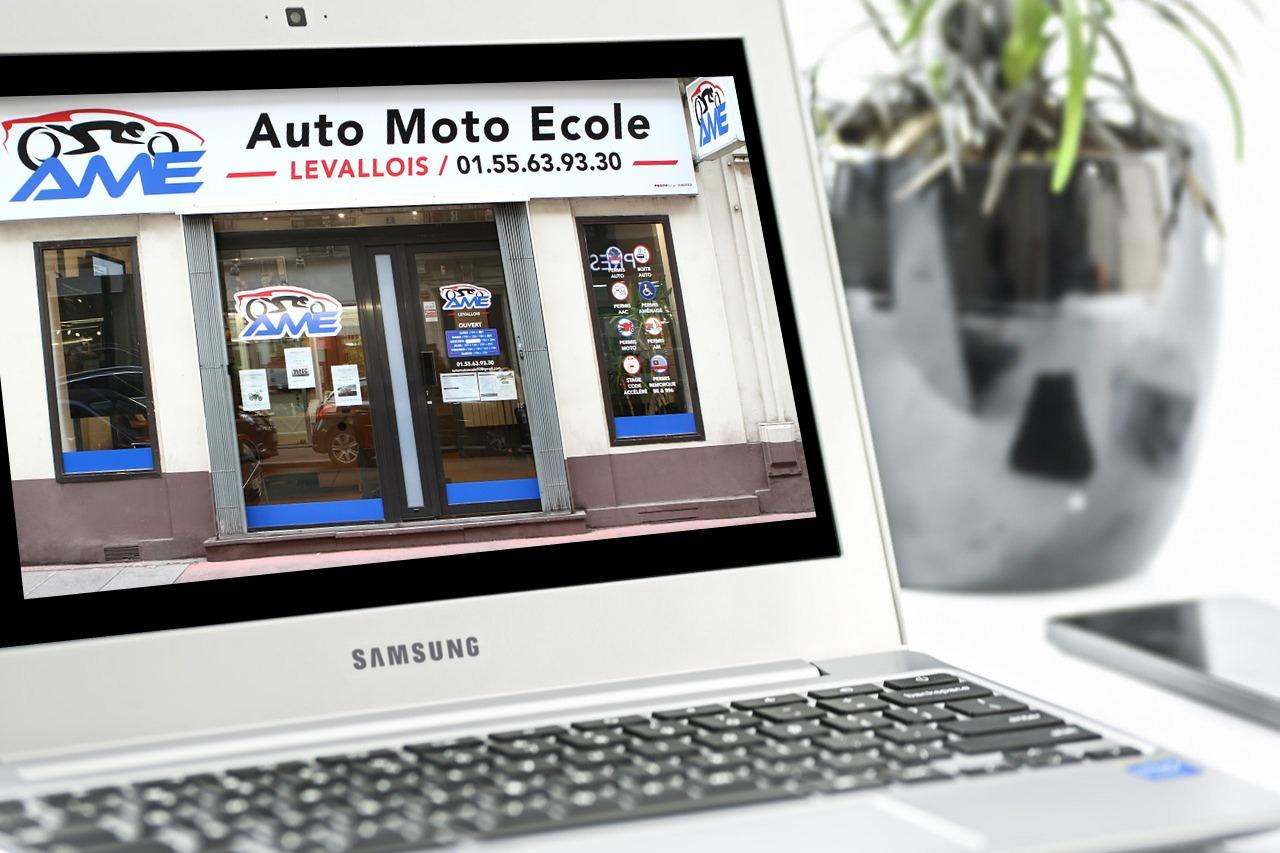 Auto Moto Ecole Levallois facade